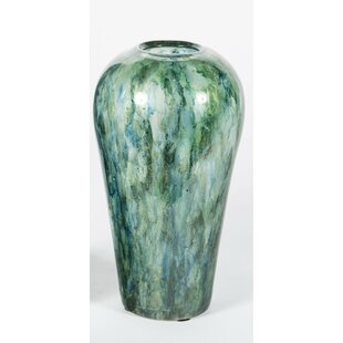 13db050a587 Palmer Hand Blown Glass Watson in Sea Glass Table Vase