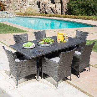 b0a1fcda62ea Bondy 7 Piece Dining Set with Cushions