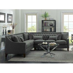 Zivah Solid L-Shaped Sectional  sc 1 st  Wayfair : l shaped sectional slipcovers - Sectionals, Sofas & Couches