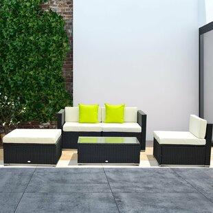 Black Rattan Garden Furniture Wayfair Co Uk