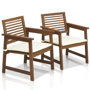 Beau Arianna Patio Chair With Cushions (Set Of 2)