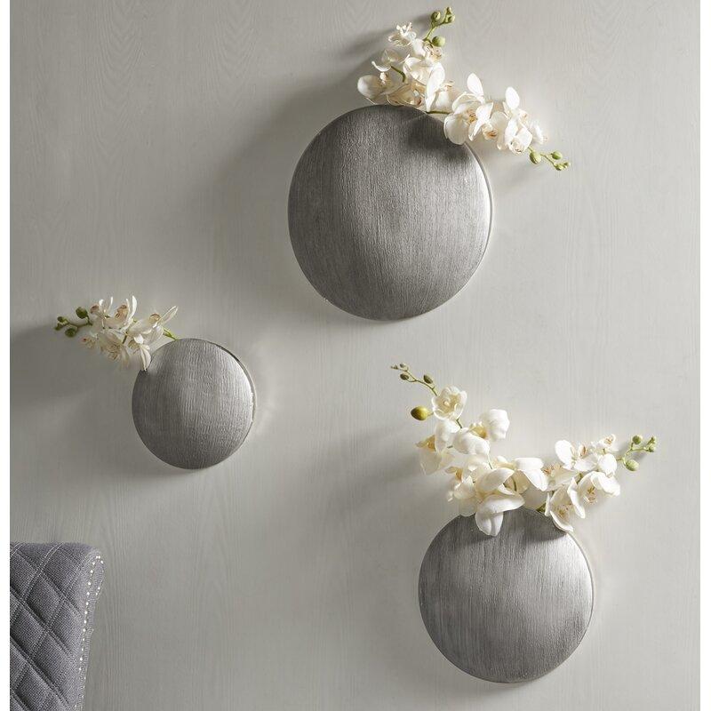 Orren Ellis Oakpark Ceramic 3 Piece Wall Vase Set Wayfair