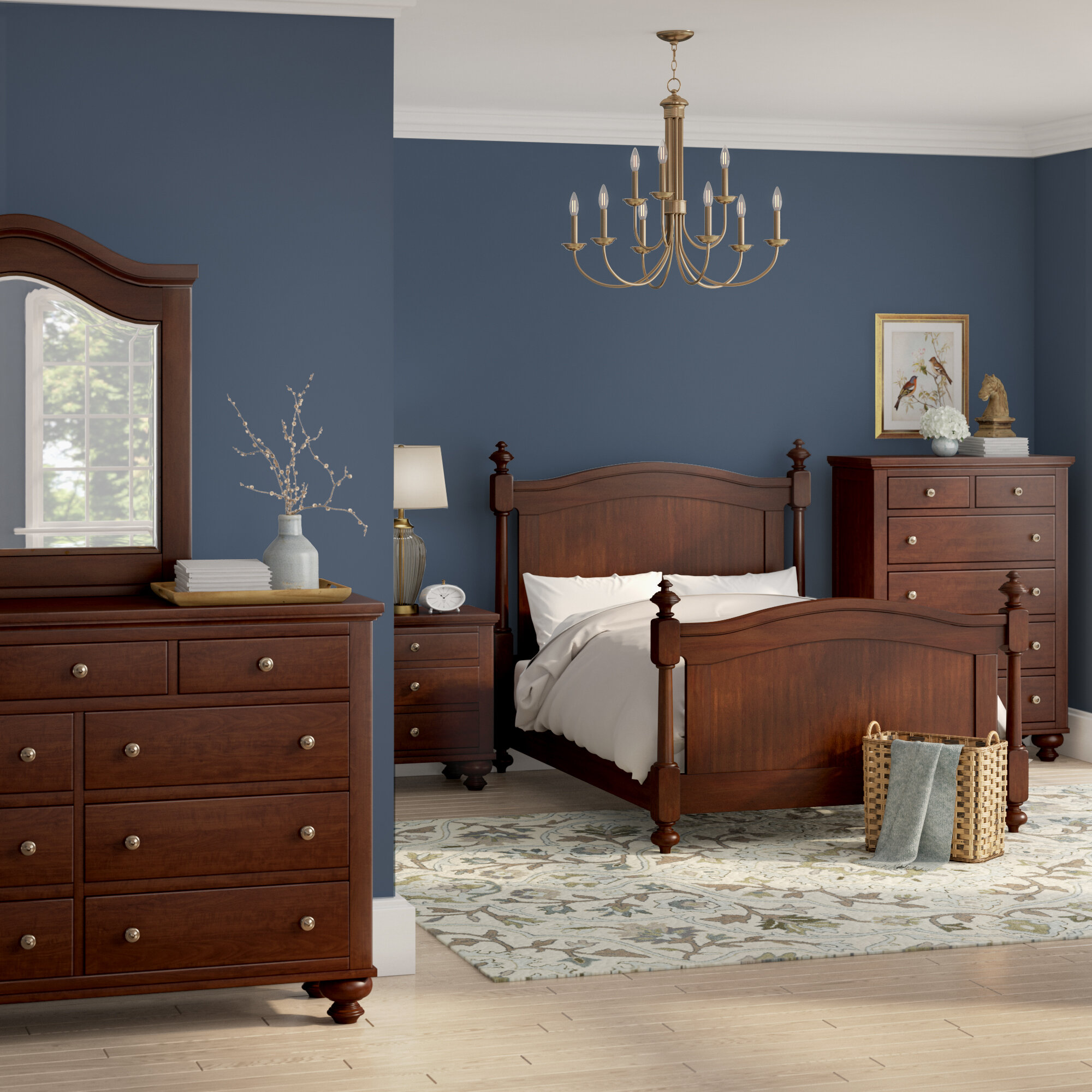 Superior Three Posts Metropolis King Panel 5 Piece Bedroom Set | Wayfair