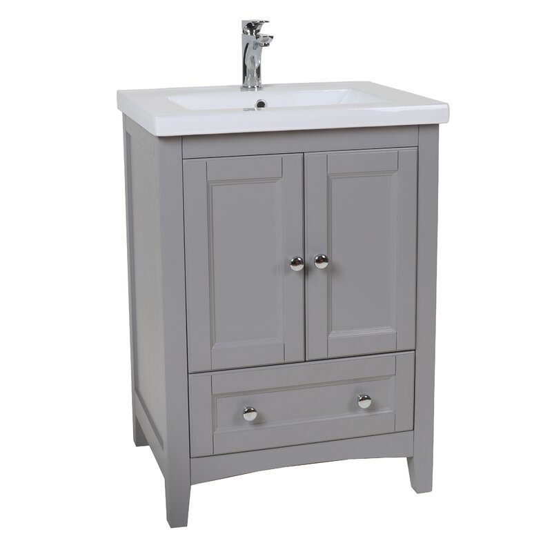 "KBC Abbey 24"" Single Bathroom Vanity Set & Reviews 