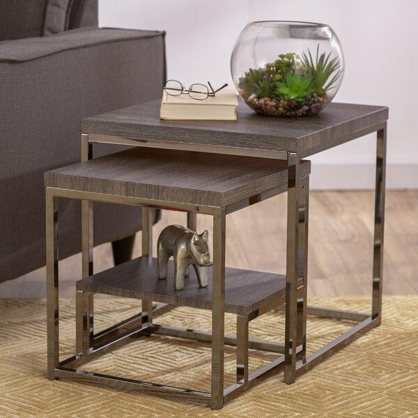 Mercury Row Philippos 2 Piece Nesting Tables Amp Reviews