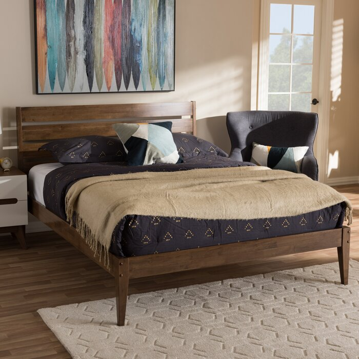 Langley Street Kyler Mid Century Modern Platform Bed Reviews