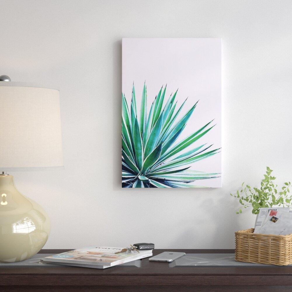 East Urban Home \'Agave Love\' Graphic Art Print on Canvas   Wayfair