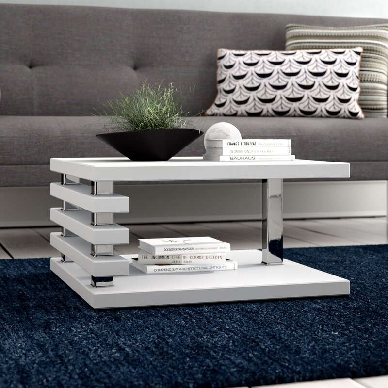 Coffee Table With Storage Glass: Riley Ave. Lola Coffee Table With Storage & Reviews