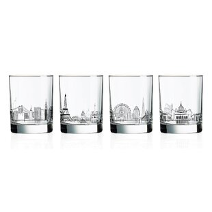 b1ad529223e9 Glass Cocktail Glasses Set (Set of 4). by Ebern Designs