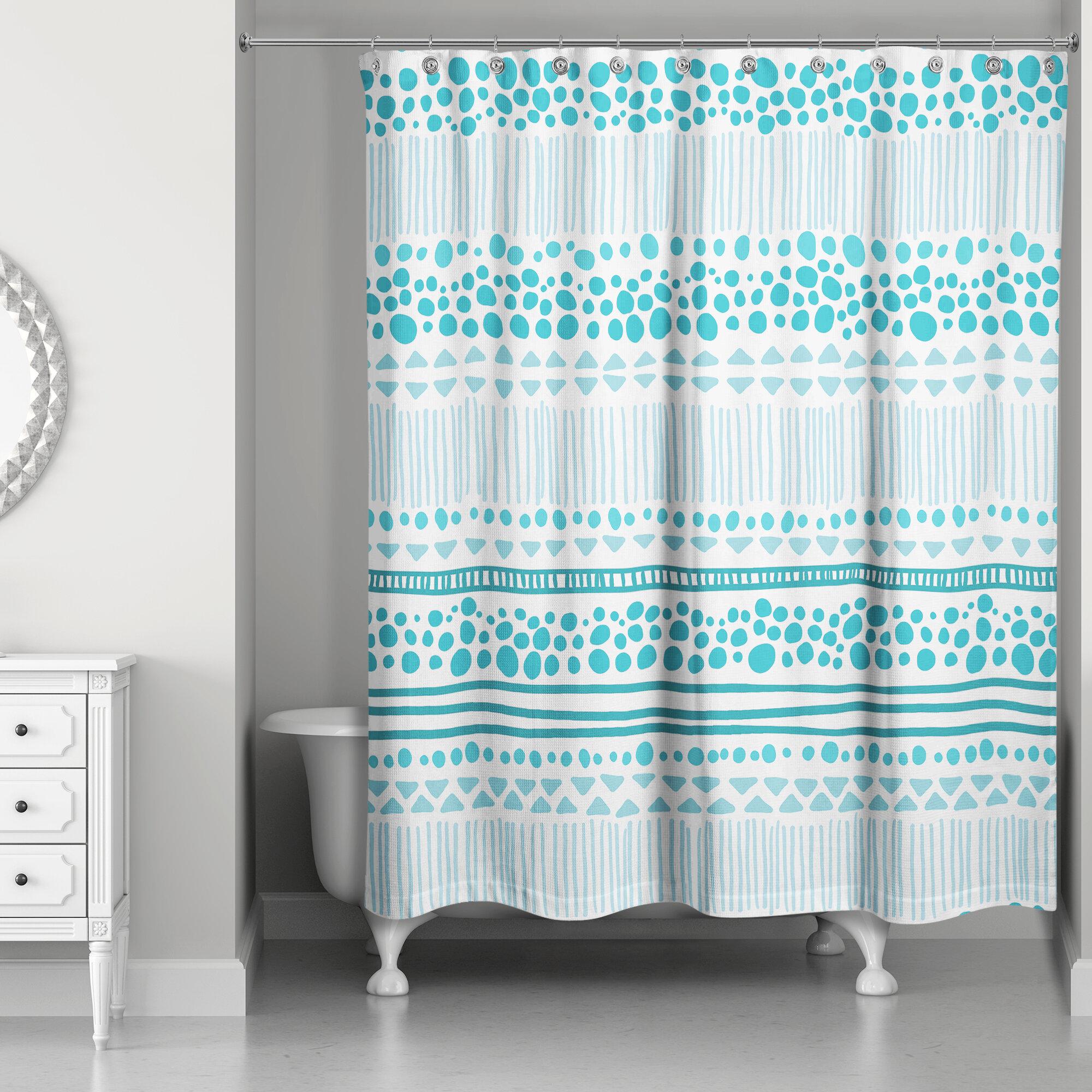 Latitude Run Presnell Tribal Print Shower Curtain
