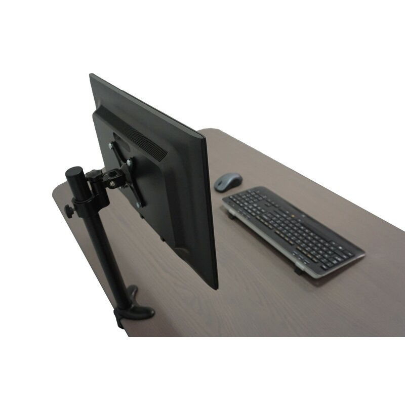 Monitor Mount Height Adjustable Universal 2 Screen Desk Mount