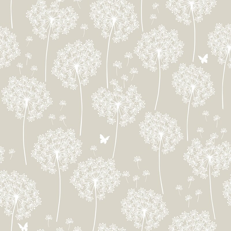 Dandelion 18 X 20 5 Quot Taupe Wallpaper Roll Amp Reviews