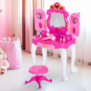 Samantha Dressing Table Set with Mirror by Viv   Rae