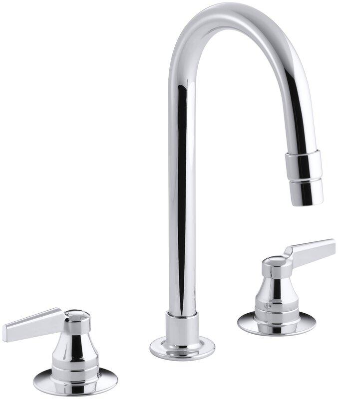 Commercial Bathroom Faucets kohler triton widespread commercial bathroom sink faucet with
