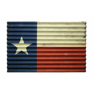 Corrugated Metal Texas Flag Wall Décor