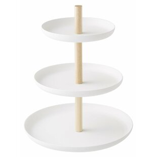 Jaime 3-Tiered Cake Stand  sc 1 st  Wayfair : silver plated 3 tier cake stand - Pezcame.Com