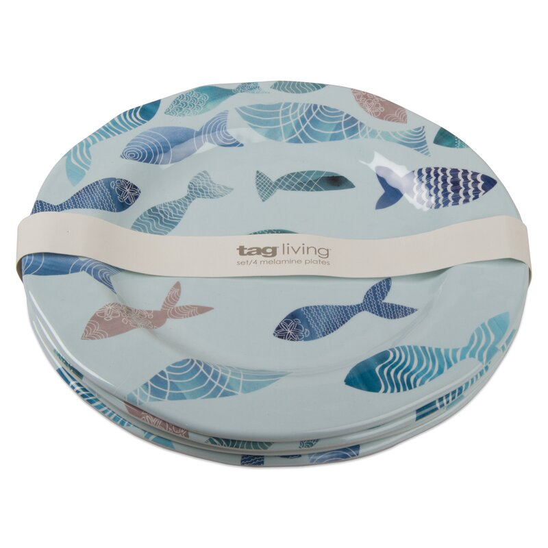 Fish Melamine 11  Dinner Plate  sc 1 st  Wayfair & TAG Fish Melamine 11