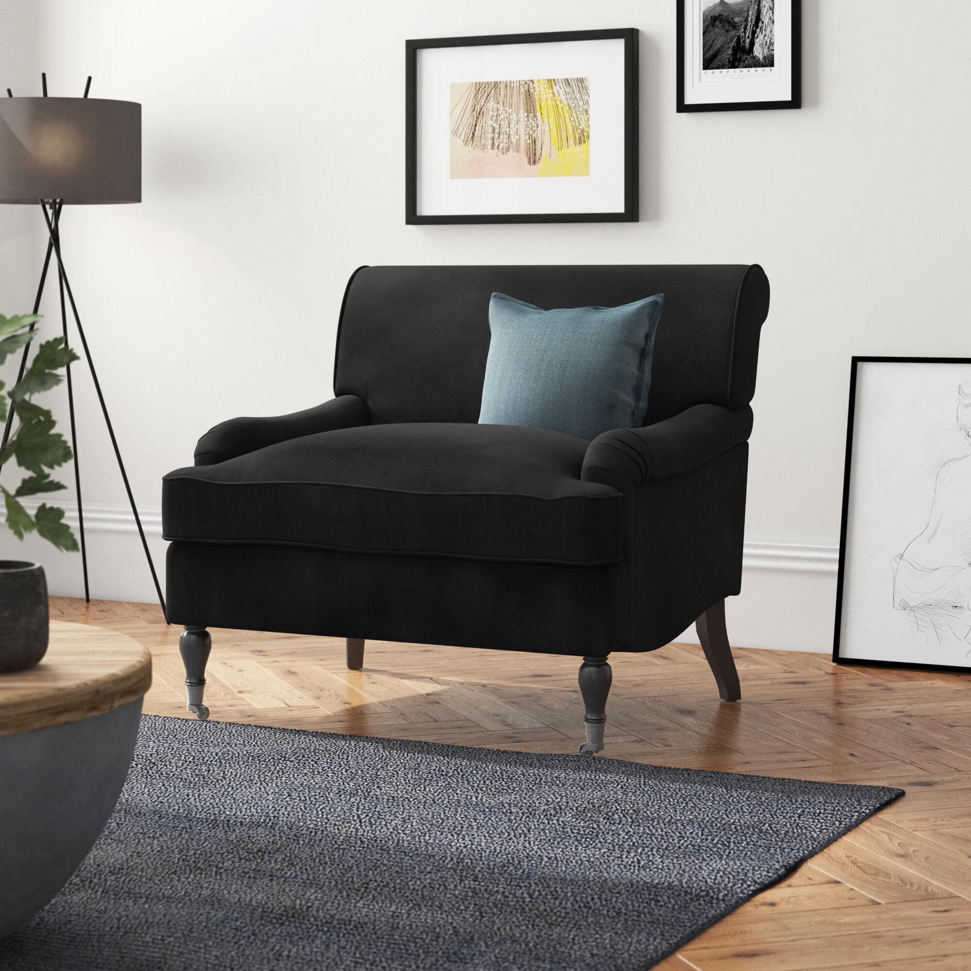 Large Velvet Armchair