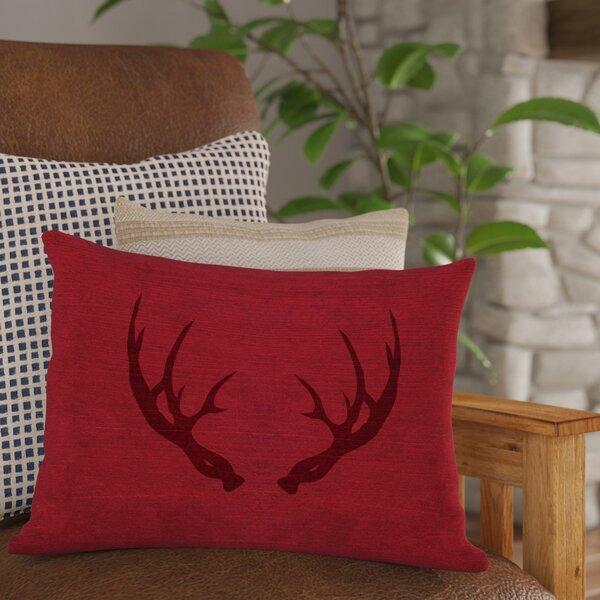 Loon Peak Adorno Antlers Inverted Lumbar Pillow Amp Reviews