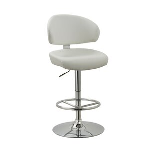 Truax Adjustable Height Swivel Bar Stool by Brayden Studio