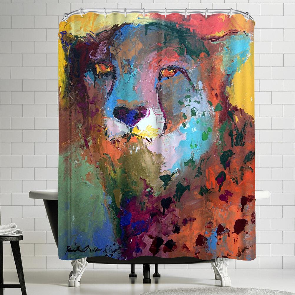 East Urban Home Richard Wallich Cheetah Shower Curtain