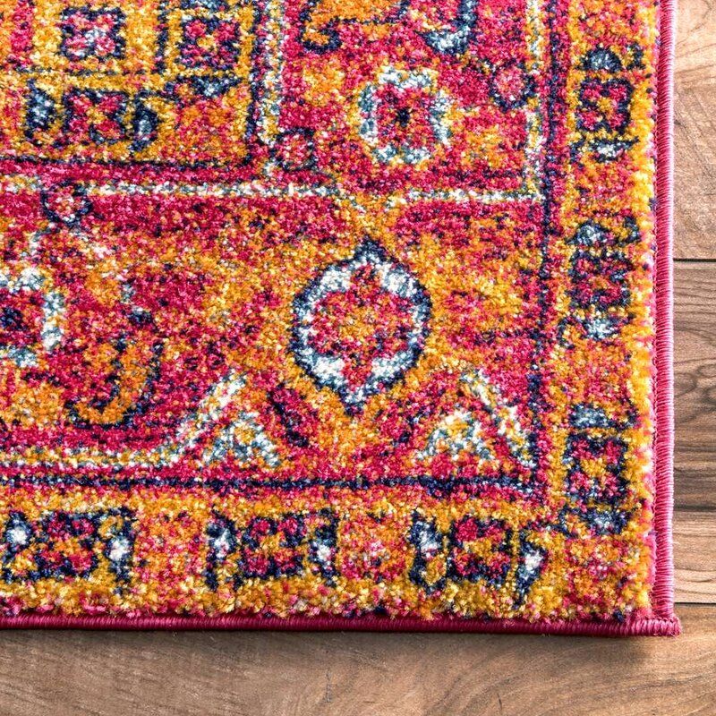 Mistana Christophe Blooming Pink Orange Area Rug Reviews Wayfair