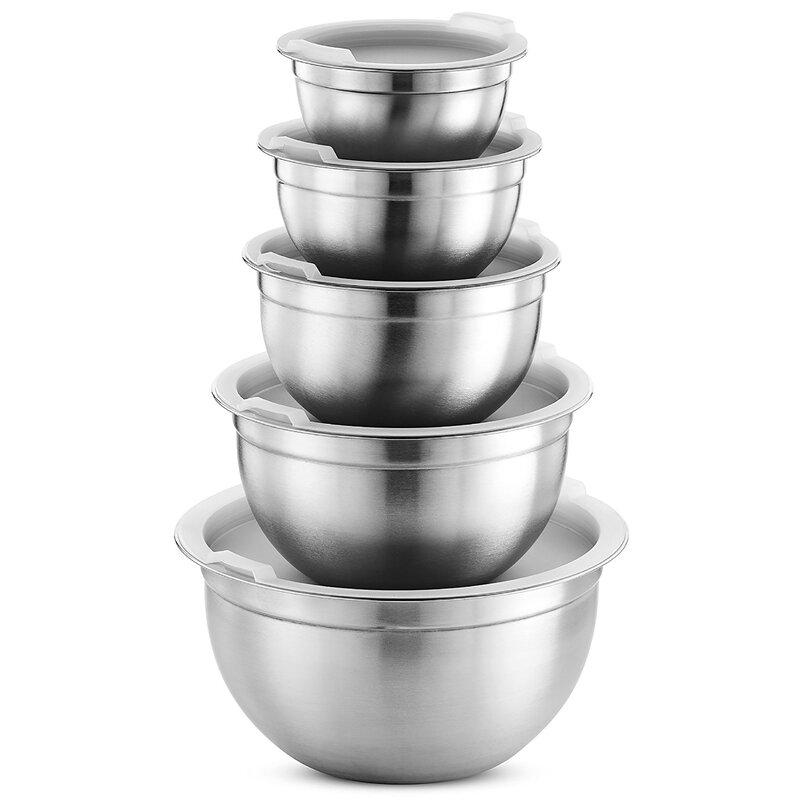 Fd Brand Premium 5 Piece Stainless Steel Mixing Bowl Set Reviews