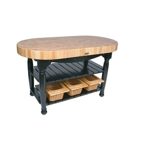 Awesome American Heritage Prep Table With Butcher Block Top