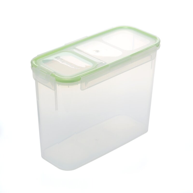 Slim Flip Top Rectangular 88 Oz. Food Storage Container
