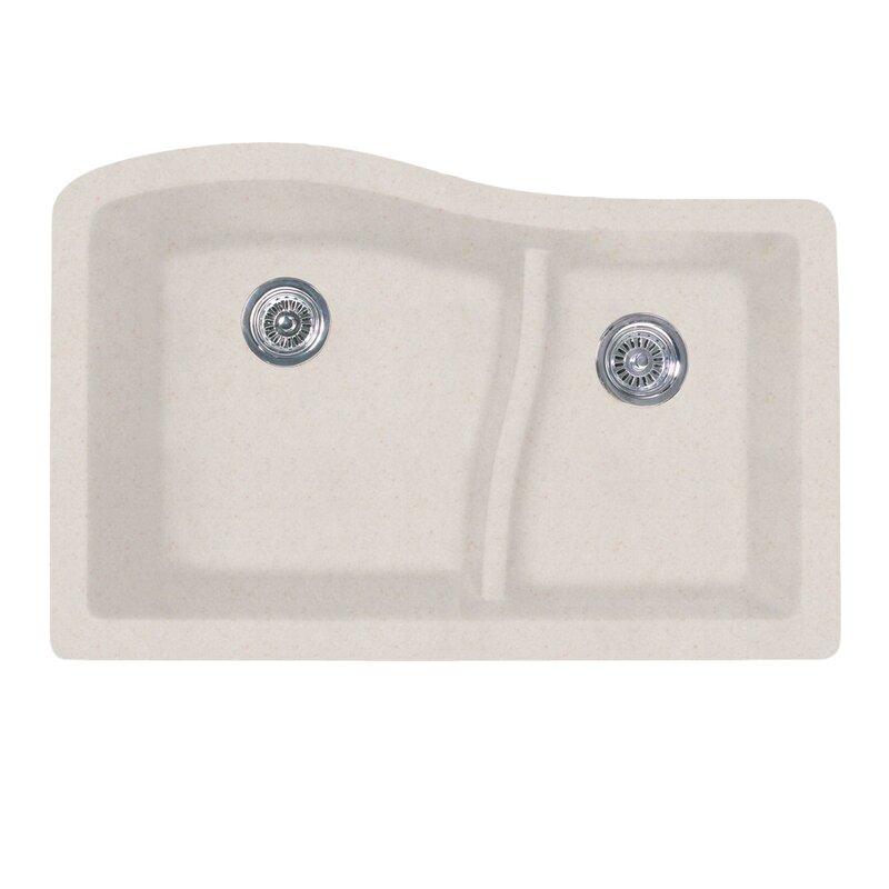 32   x 21   double basin undermount kitchen sink swanstone 32   x 21   double basin undermount kitchen sink  u0026 reviews      rh   wayfair com