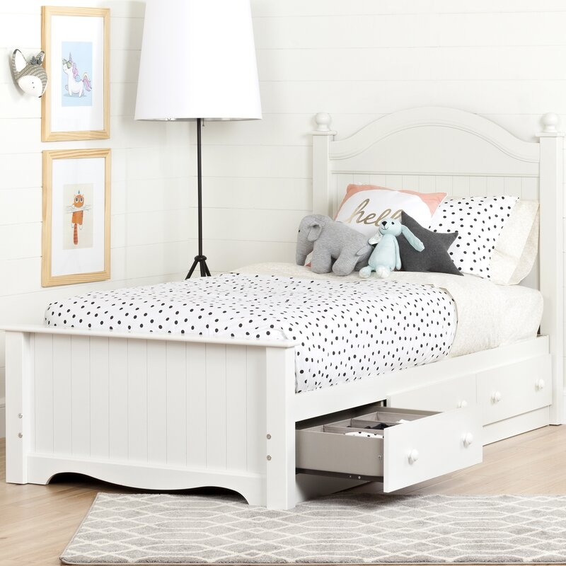 savannah twin panel bed with storage