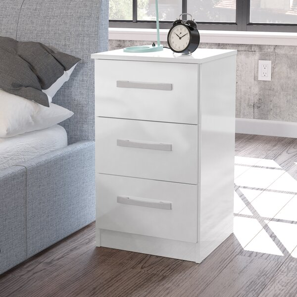 Riley Ave Macy 3 Drawer Bedside Table Amp Reviews Wayfair