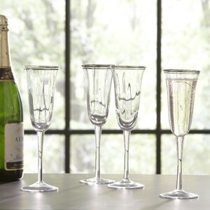 Aveline Champagne Flutes (Set of 4)