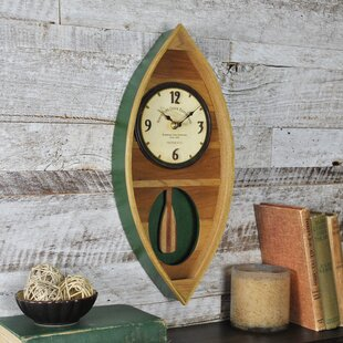 Wood Canoe Wall Clock