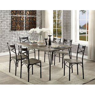 Landaverde Industrial 7 Piece Dining Set