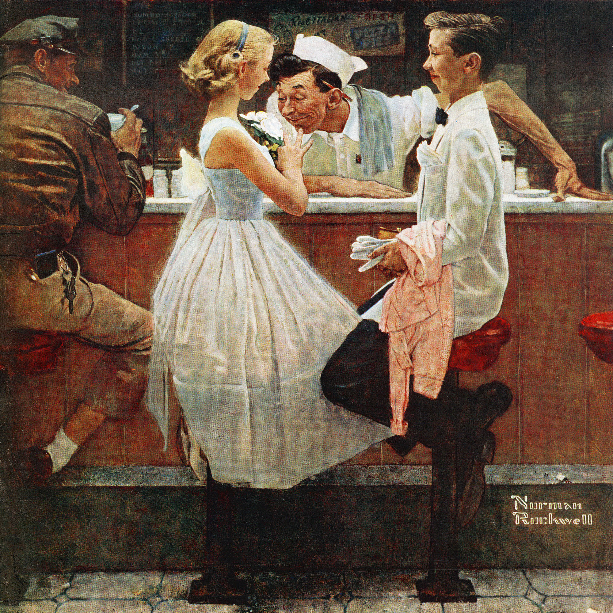 Marmont Hill \'After The Prom\' by Norman Rockwell Painting Print on ...