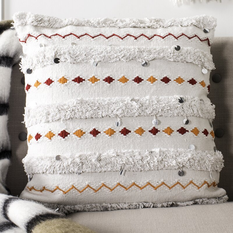 Bloomsbury Market Yakhlef 100% Cotton Throw Pillow