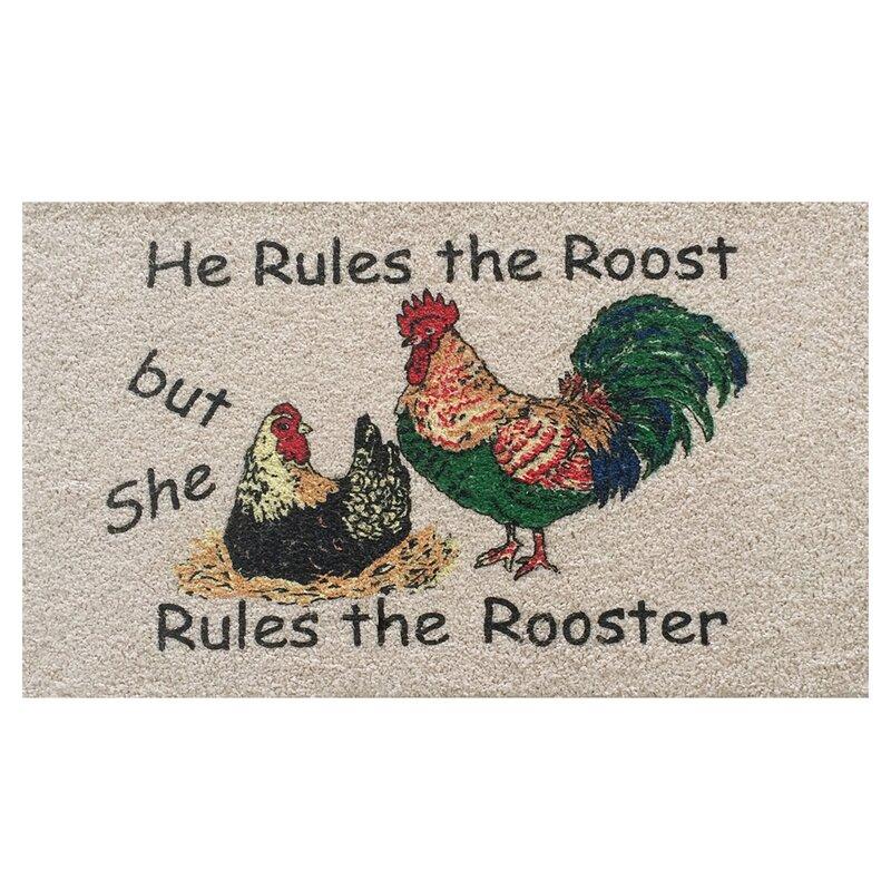 Home & More Rooster Doormat & Reviews