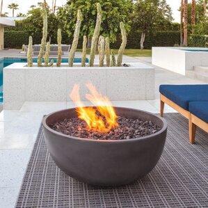 Urth Concrete Natural Gas/Propane Fire Pit