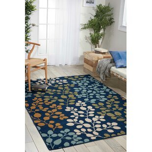 Brockenhurst Navy Indoor Outdoor Area Rug
