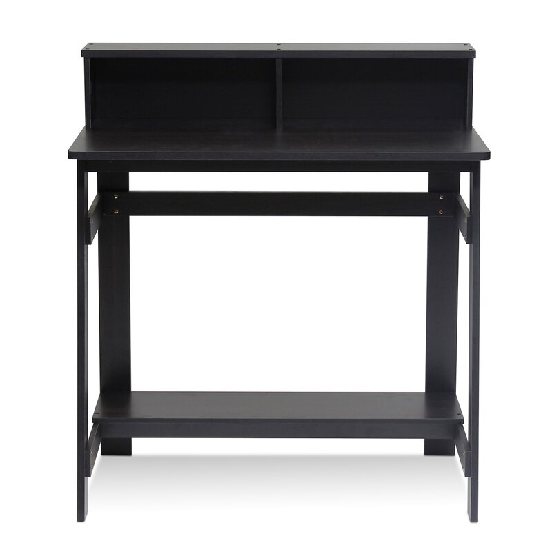 annie writing desk with hutch - Black Writing Desk
