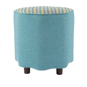 Chevron Ottoman by Loni M Designs
