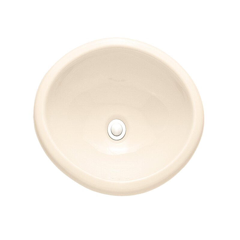 Savona Sebring Ceramic Circular Drop-In Bathroom Sink with Overflow