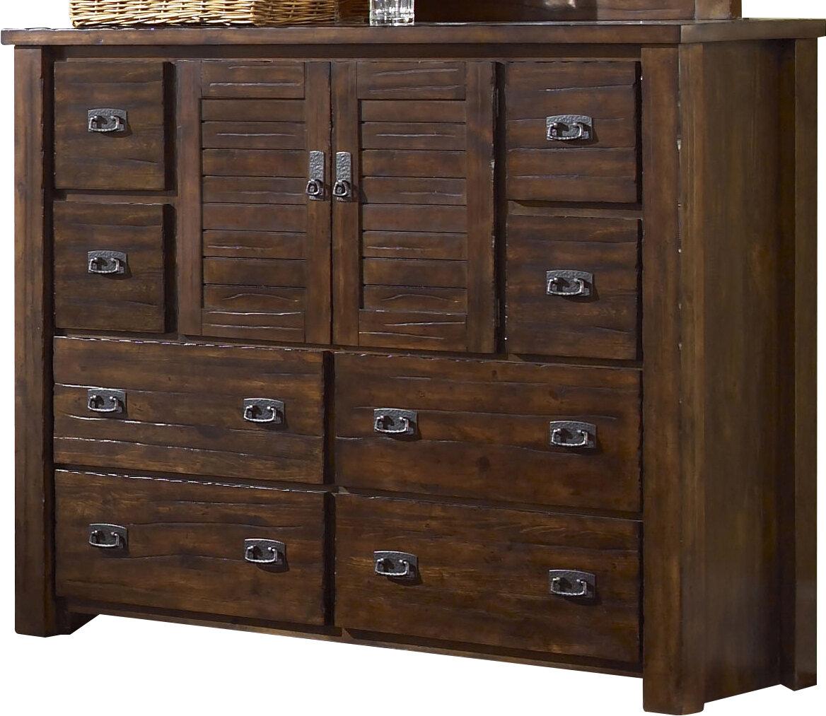 Loon Peak Bison Ridge 8 Drawer Combo Dresser U0026 Reviews | Wayfair