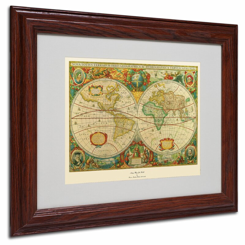 Trademark art old world map painting framed graphic art reviews old world map painting framed graphic art gumiabroncs Choice Image