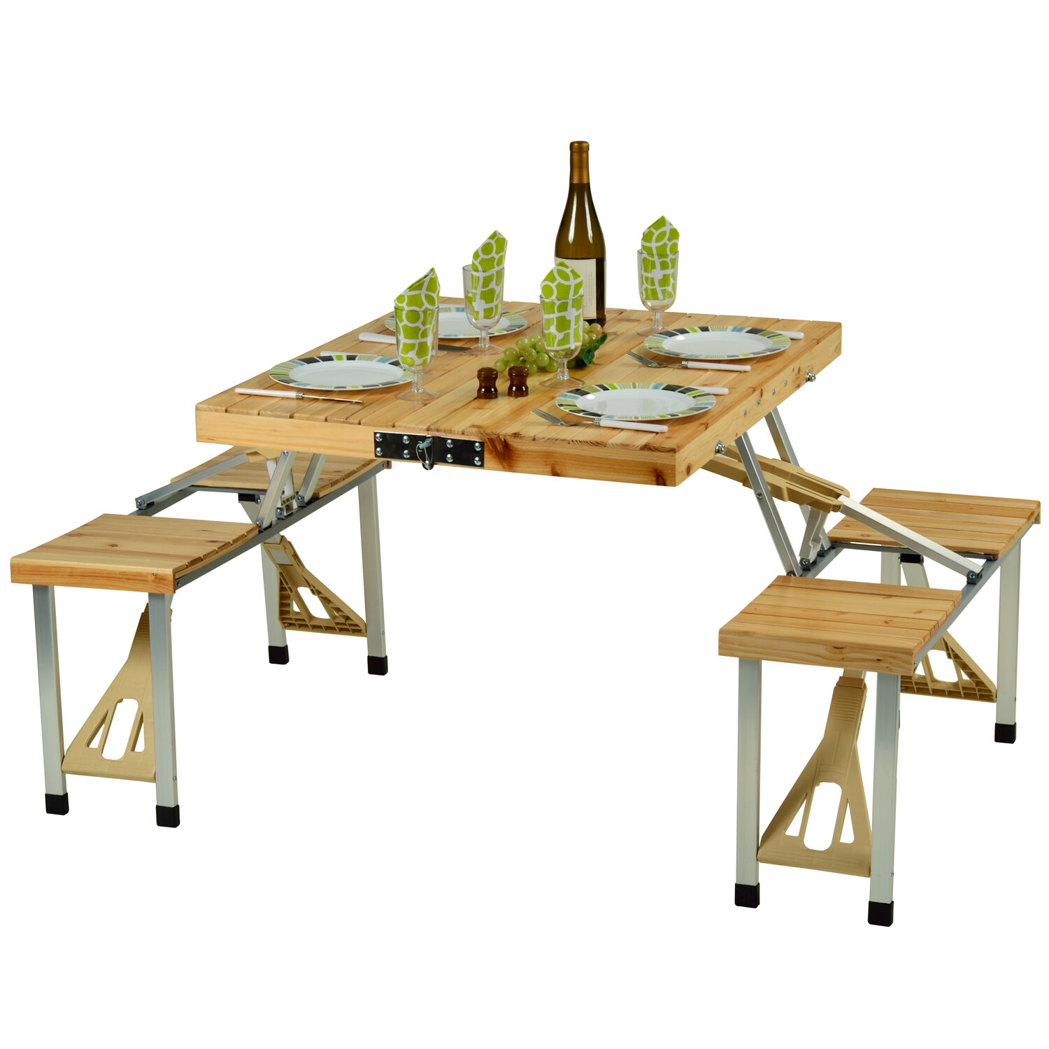Loon Peak Throop Portable Picnic Table & Reviews