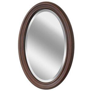 Millstadt Wood Oval Bathroom Vanity Wall Mirror