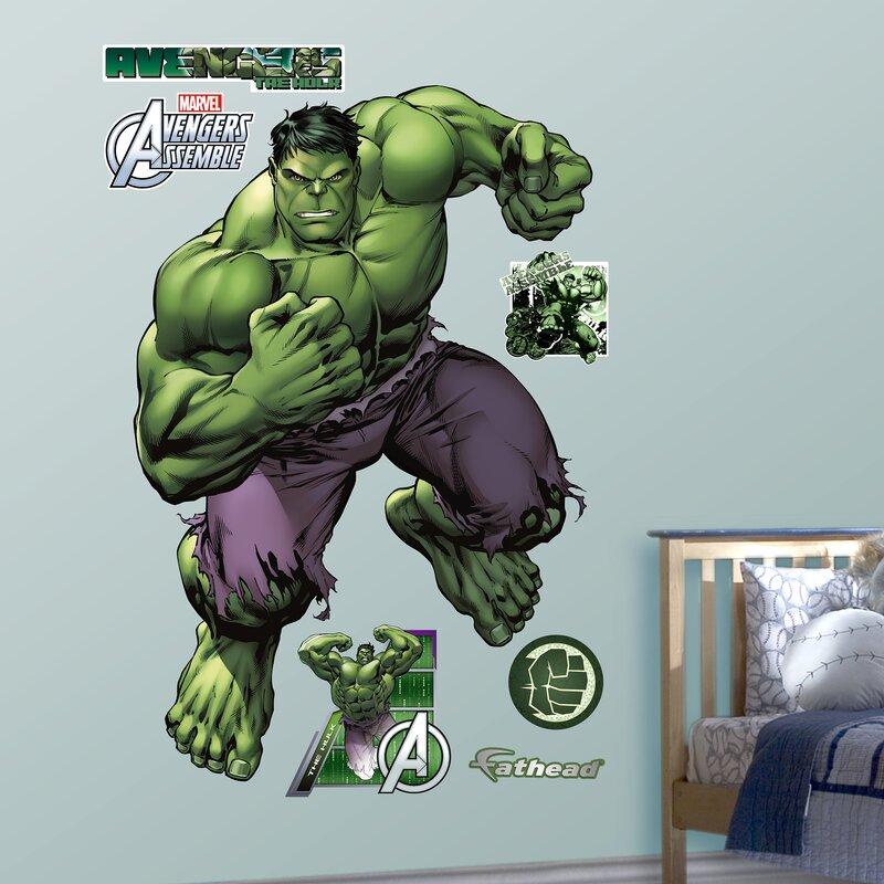 93f833b5c34 Fathead RealBig Marvel Avengers Assemble, Hulk Wall Decal & Reviews |  Wayfair