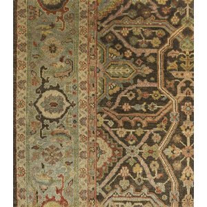 Blaine Hand-Knotted Brown Area Rug