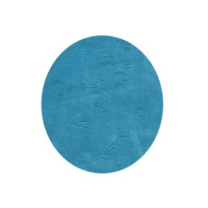 Hand-Tufted River Blue Area Rug